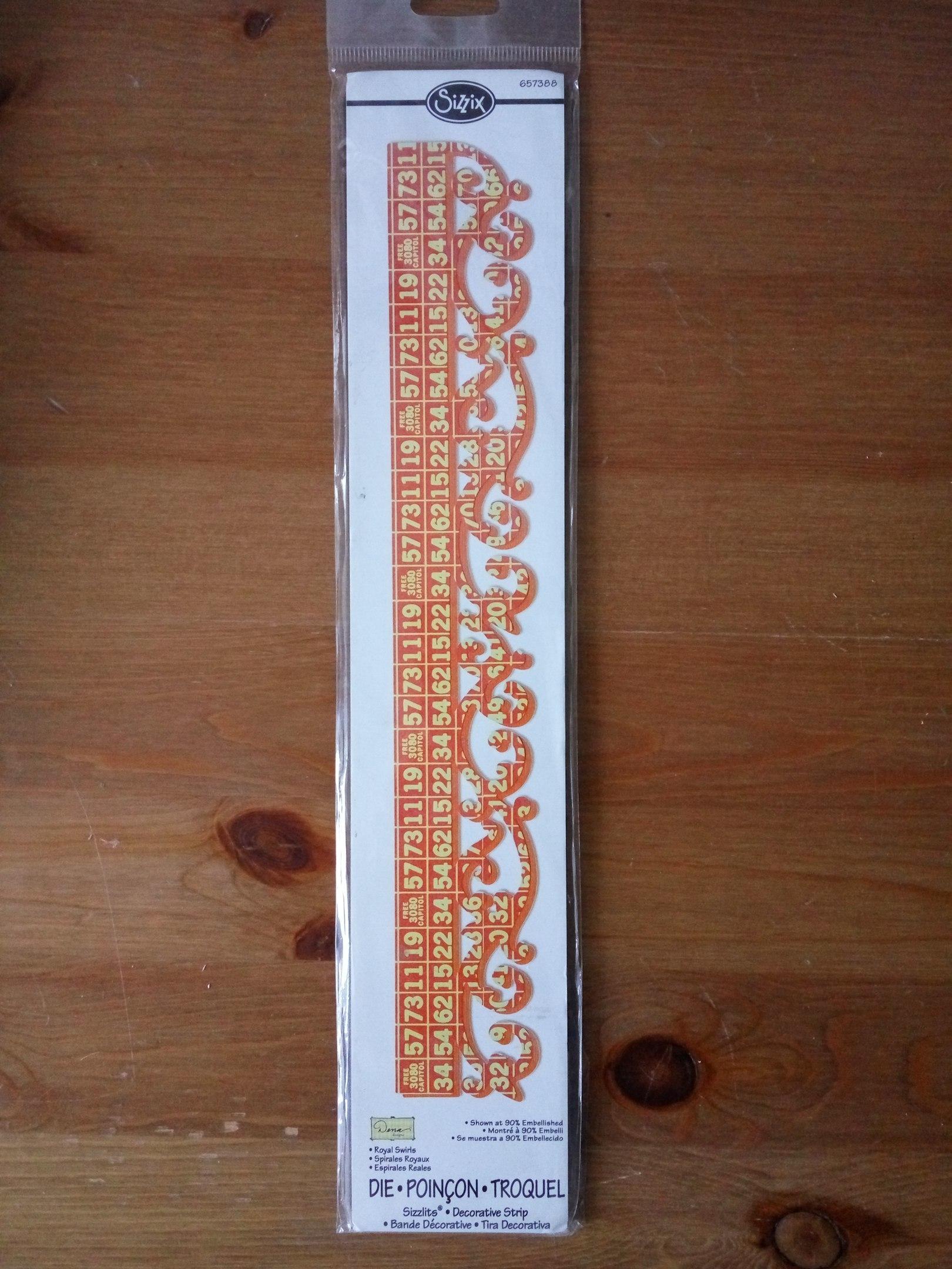 Нож для вырубки Sizzix Royal Swirls 657388