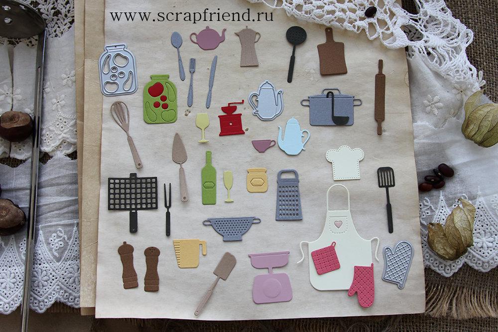 Набор ножей для вырубки Гретта, 34 штуки, Scrapfriend sf0037