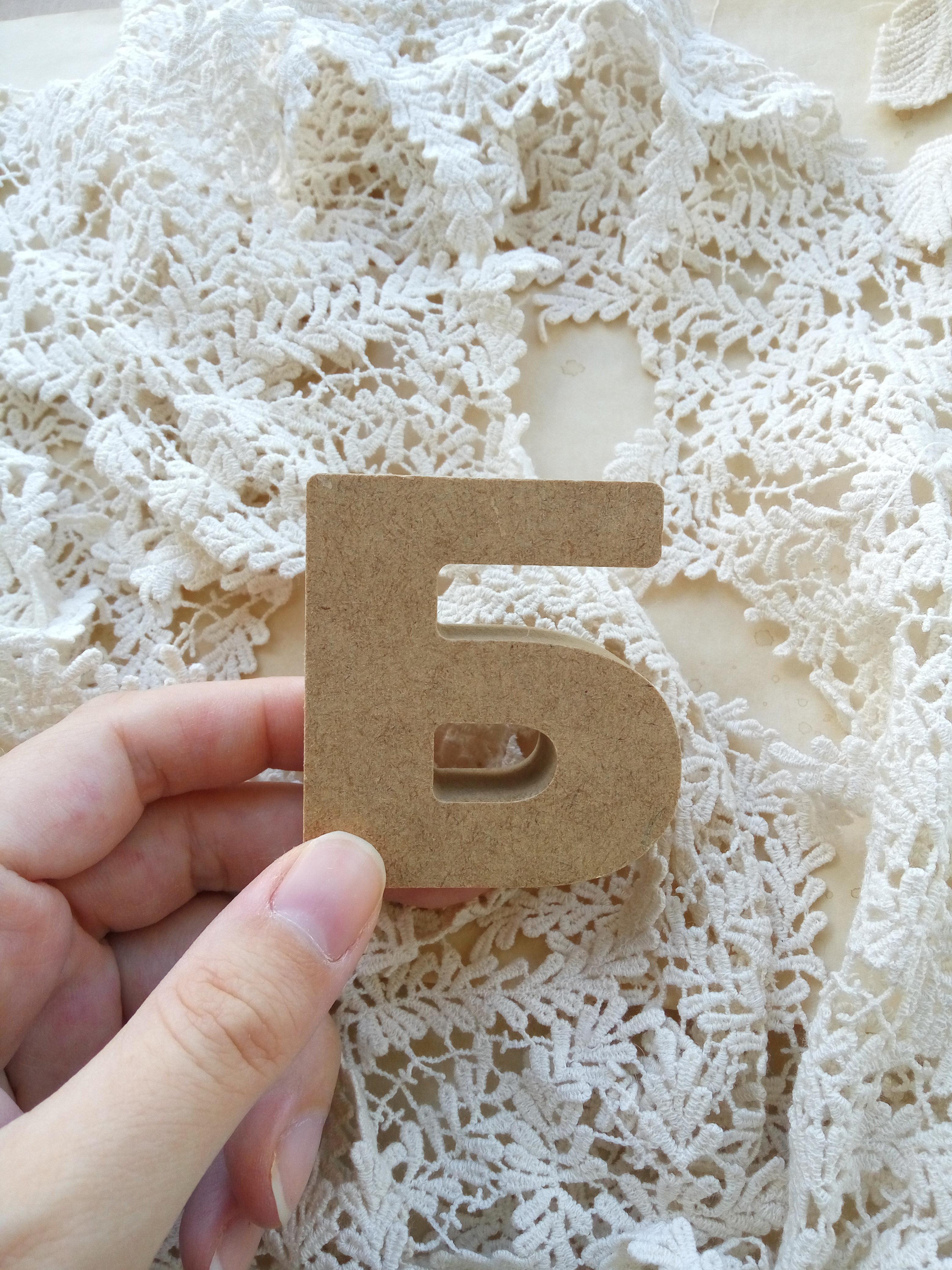 Буква, цифра из МДФ, высота 6см, толщина 1,9см