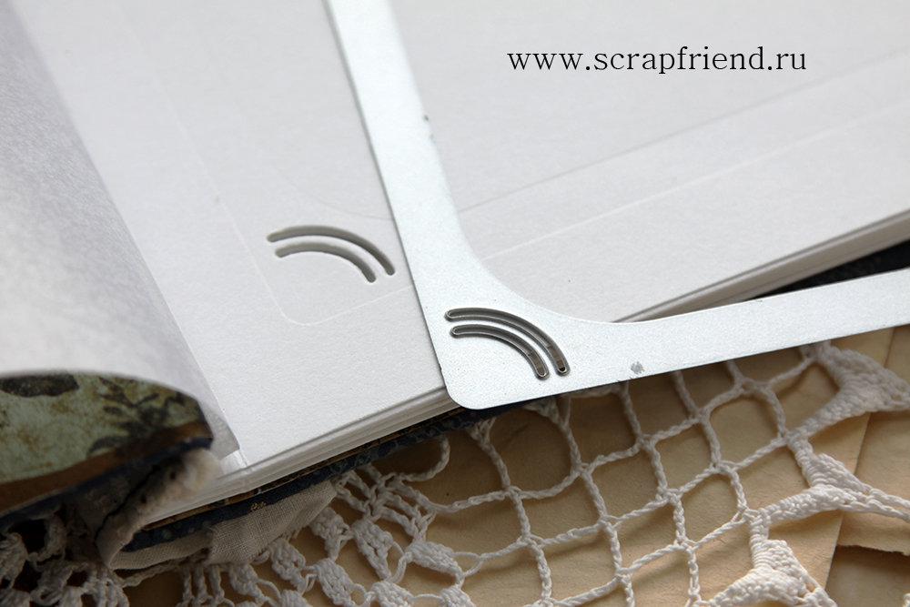 Нож для вырубки Лауретта: 4 прорези под фотографию 10х15см, Scrapfriend