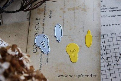 Набор ножей для вырубки Лампочки, 2х3см, 1х2,8см, Scrapfriend