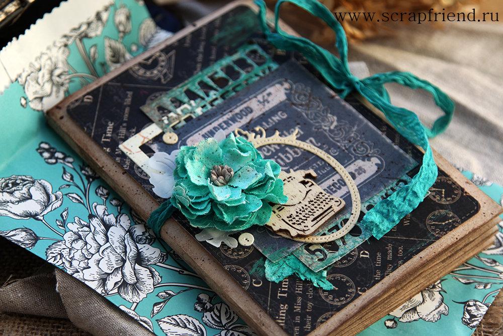 Ножами Марибель сделаны цветочки из кальки и листики из ткани. Автор работы www.carambolka.ru