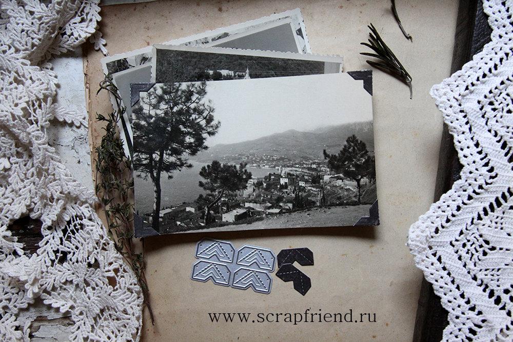 Нож для вырубки 4 уголка - Джузеппе, Scrapfriend sf0007