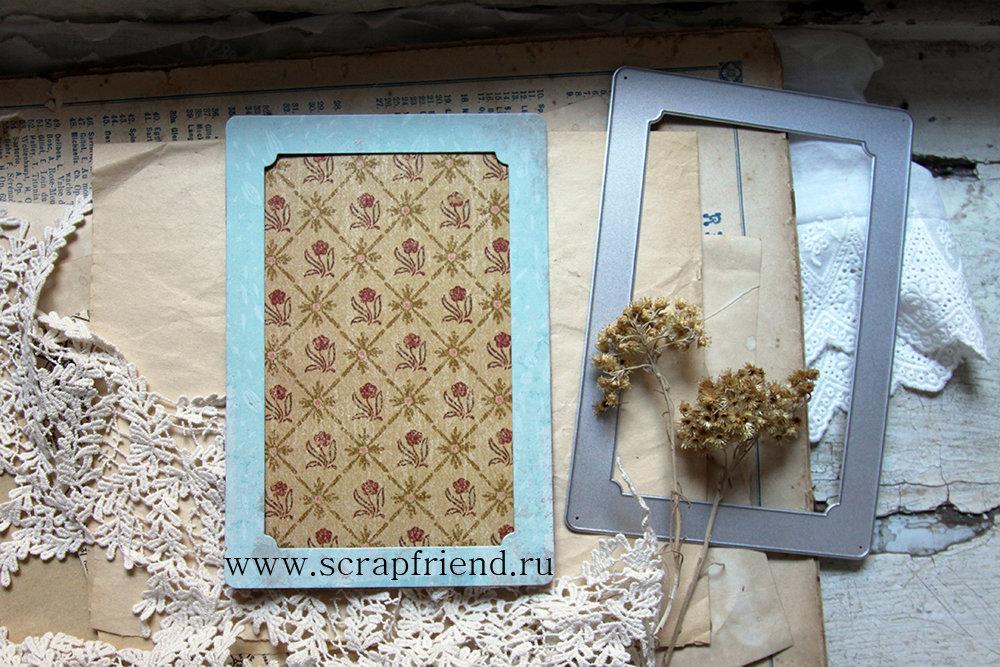 Нож для вырубки Клементина: рамка для фотографии 10х15см, Scrapfriend sf0103