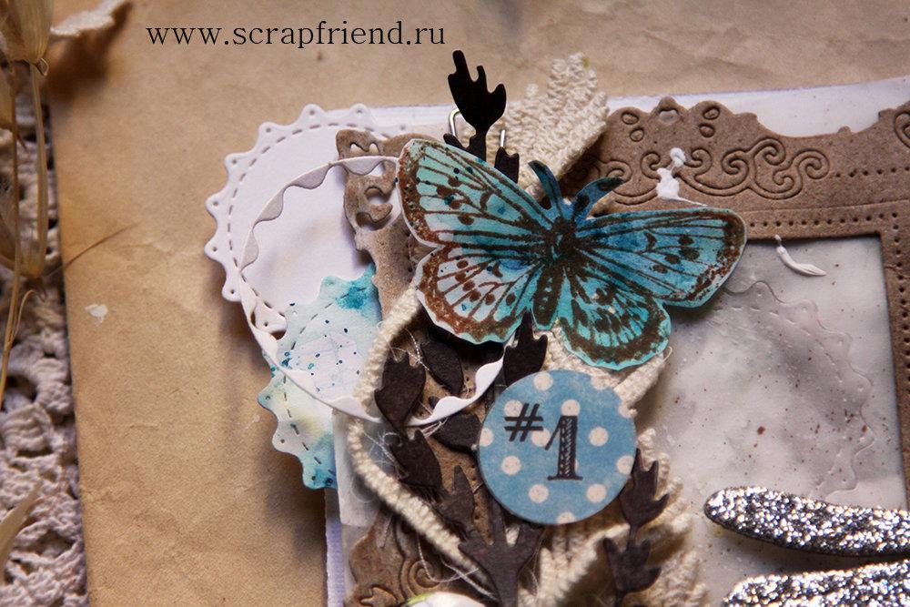 В этой открытке основа, фоновые листы и круги вырезаны ножами из данного набора. Автор открытки @carambolka_