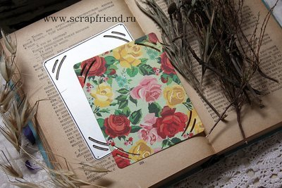 Die Cynthia: a mat for photo 10x7,5 cm (half 10x15 cm), Scrapfriend