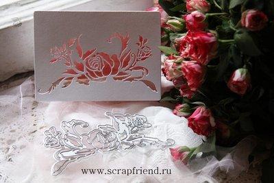 Набор ножей для вырубки Трафарет Розы, 13х7см, Scrapfriend
