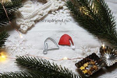 Die Santa hat, 3x2,2 cm, Scrapfriend
