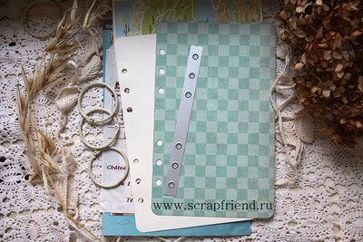 Die Holes for Binder rings, A5 (6 holes), 14,5x1,3cm, Scrapfriend