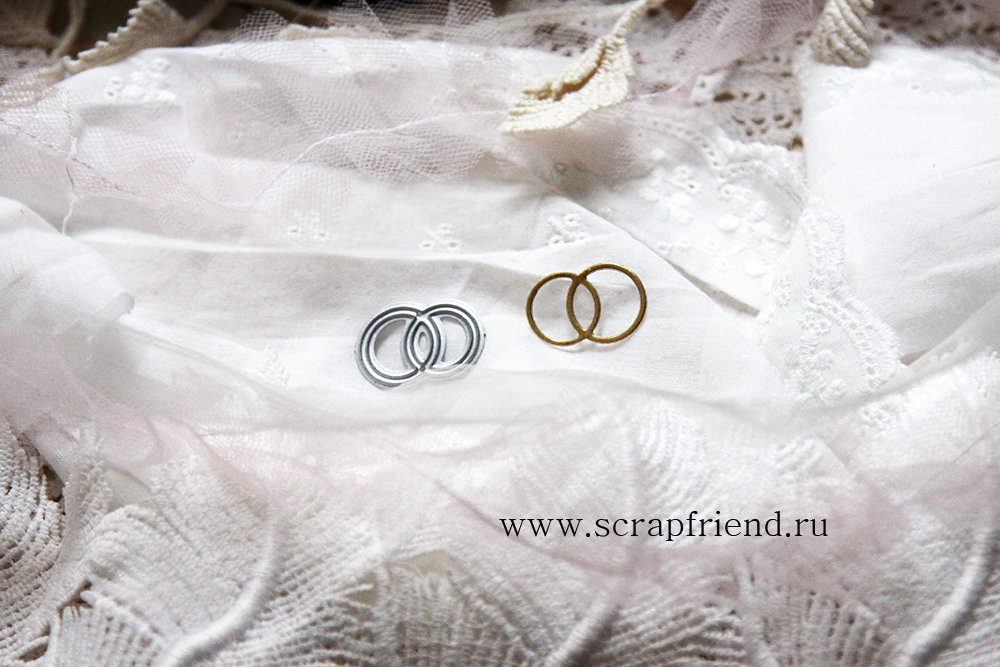 Нож для вырубки Свадебные кольца, 2,5х1,5см, Scrapfriend sf0137