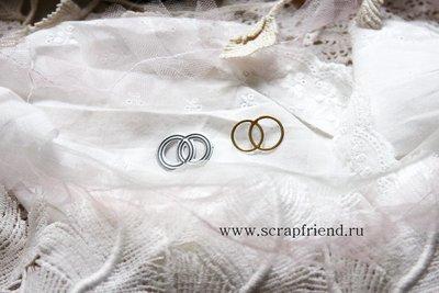 Нож для вырубки Свадебные кольца, 2,5х1,5см, Scrapfriend