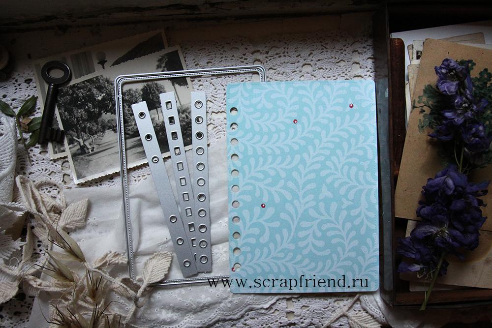 Набор ножей для вырубки Мегаподложка (с пунктирной линией) для фотографии 10х15см, Scrapfriend