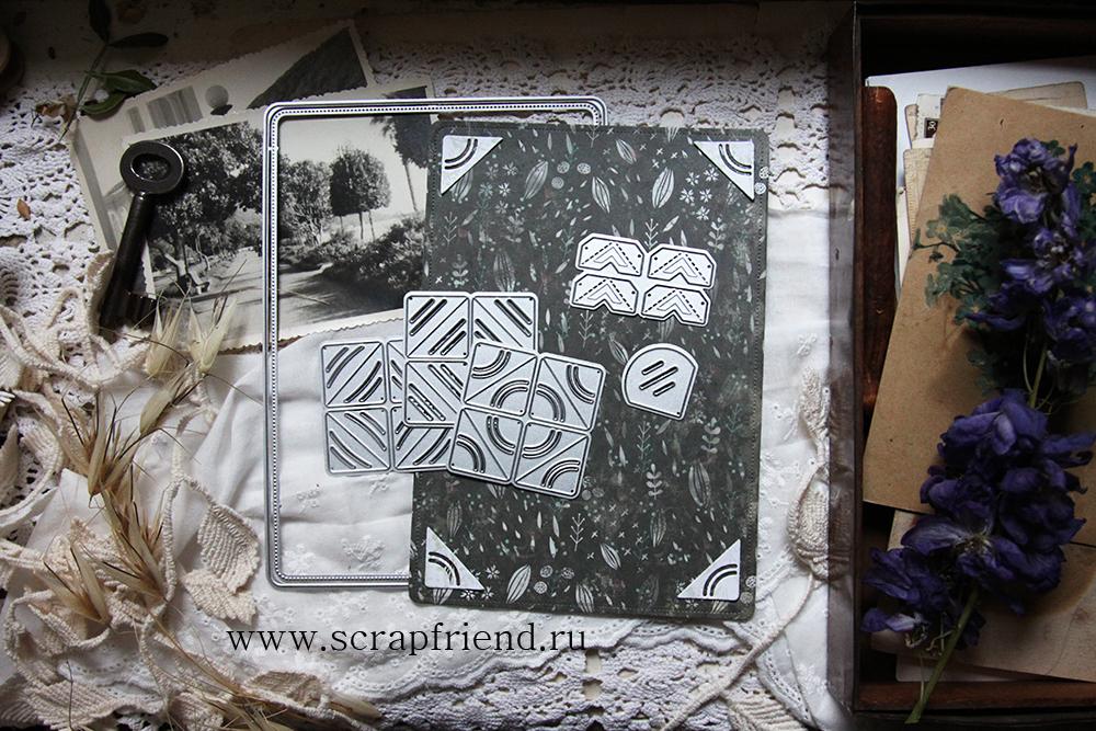 Нож для вырубки 8 фотоуголков Октавиана, Scrapfriend