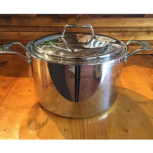 "'CookWell' 8 quart Stock Pot & 10"" Lid 0013"