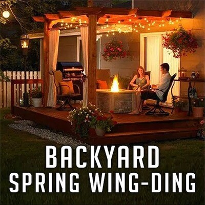 Backyard Spring Wing-Ding Dinner