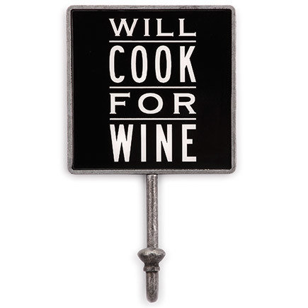 'Will Cook For Wine' Magnetic Hook 00007