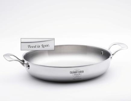 "'Food Is Love'  13"" Braiser & Lid"