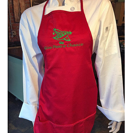 'Give Peas A Chance' Red Apron 00203