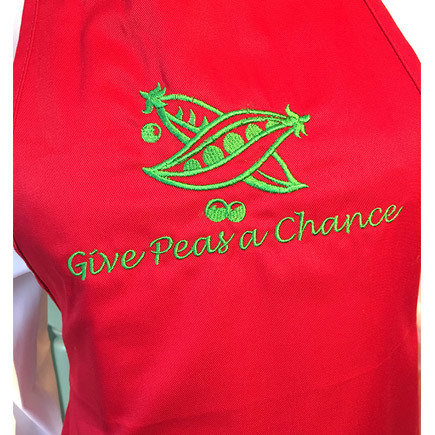 'Give Peas A Chance' Red Apron
