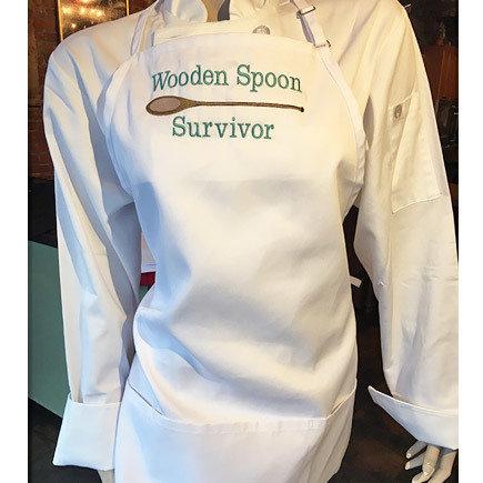'Wooden Spoon Survivor' White Apron 00205