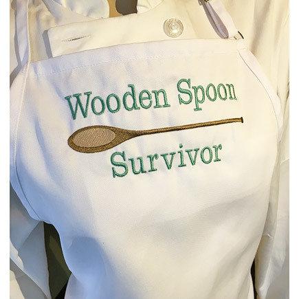 'Wooden Spoon Survivor' White Apron