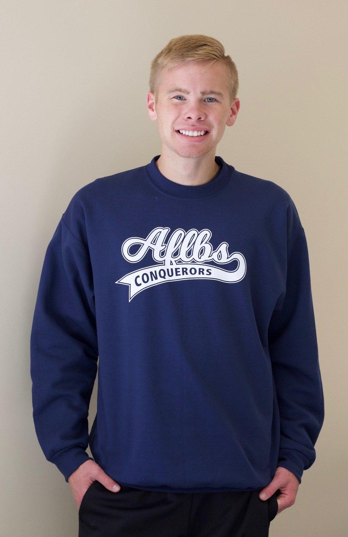 Blue Collegiate Crewneck