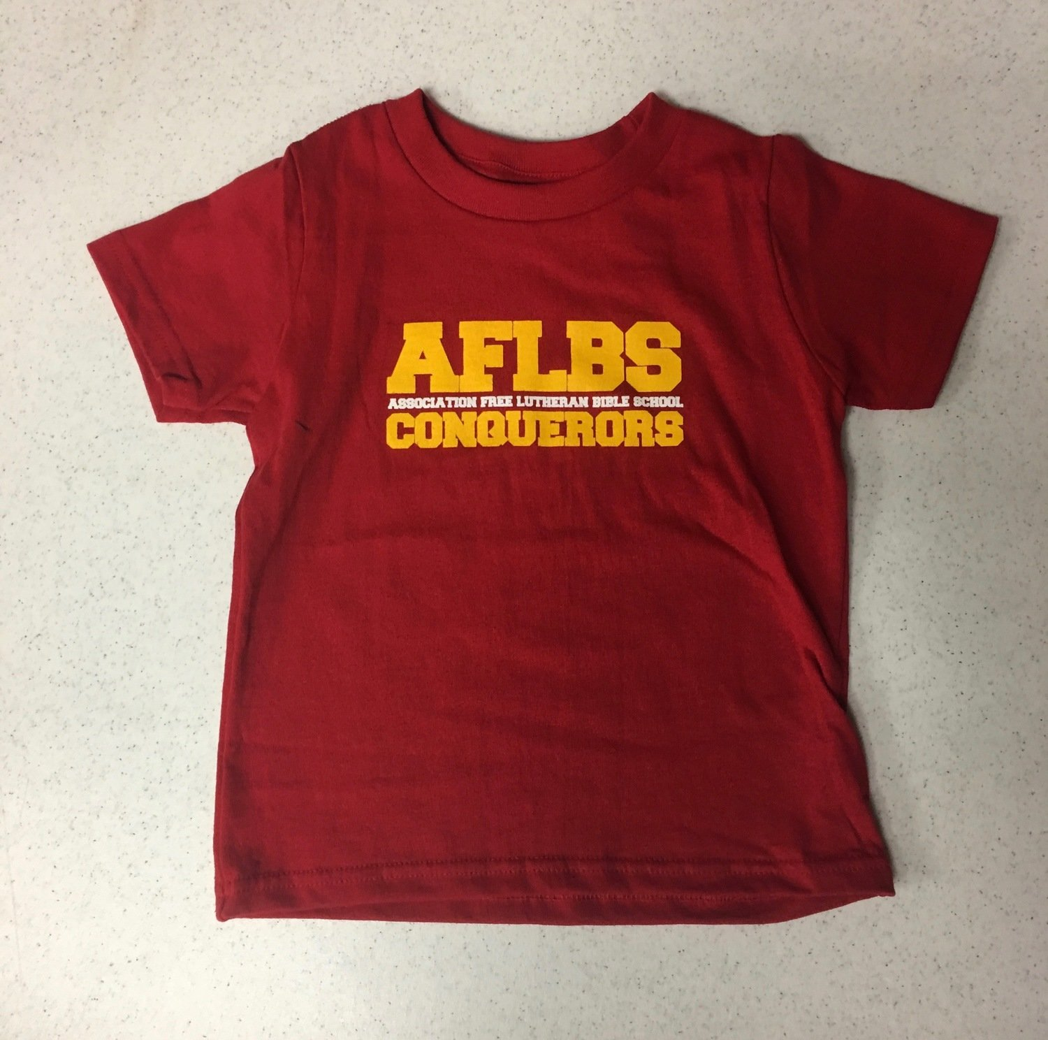 Toddler - Red AFLBS Conquerors t-shirt