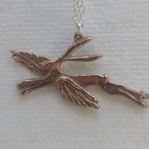 Winged Hare ~ Rose Bronze