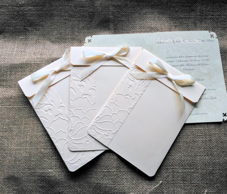 Partecipazioni Matrimonio Pergamena.Partecipazione Elegante Con Cartellina Goffrata E Stampa Su Pergamena