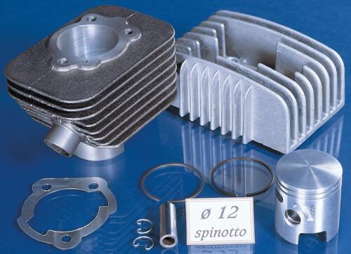 GRUPPO TERMICO POLINI 65cc IN GHISA per PIAGGIO SI-CBA-ECO-BRAVO spinotto 12