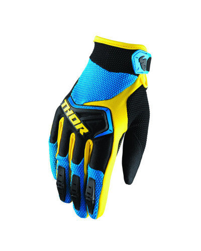 Guanti CROSS THOR mod. SPECTRUM Blu/Nero/Giallo