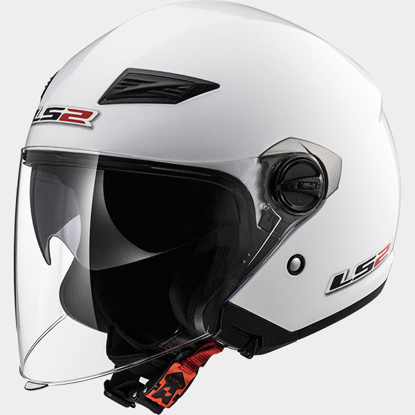 CASCO LS2 JET OF569 TRACK WHITE
