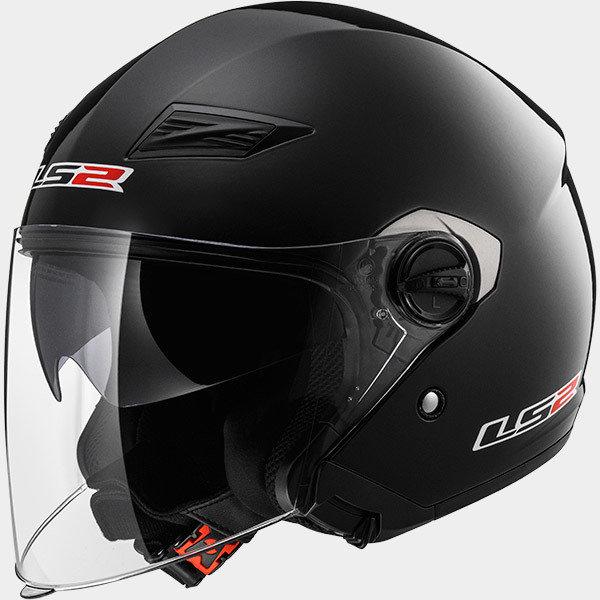 CASCO LS2 JET OF569 TRACK BLACK