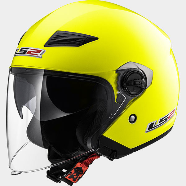 CASCO LS2 JET OF569 TRACK YELLOW