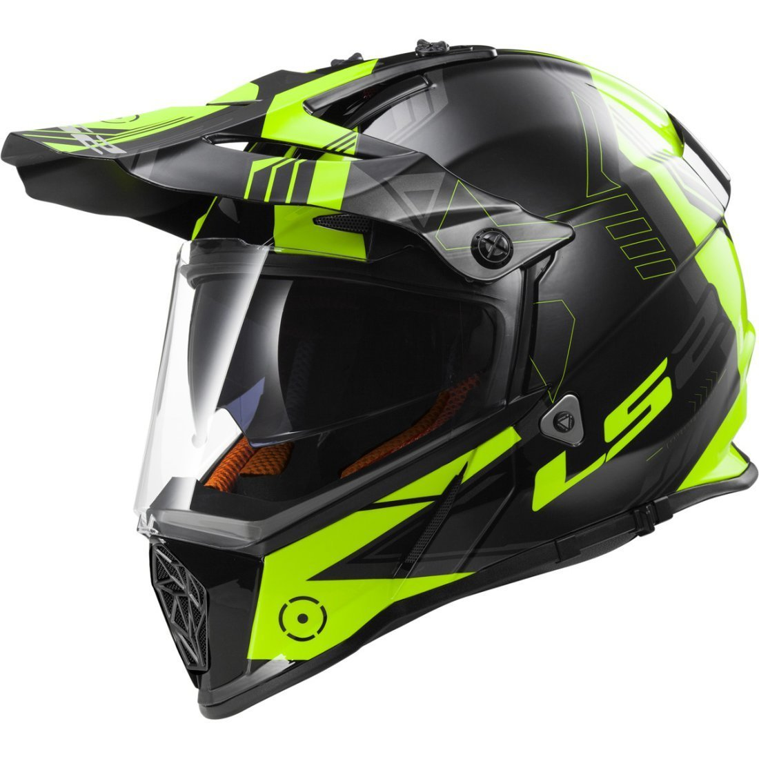 CASCO LS2 CROSS MX 436 PIONEER TRIGGER YELLOW