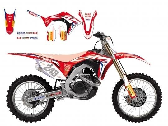 KIT GRAFICHE REPLICA TEAM HONDA HRC PER HONDA CRF 450 R 2017/2018, CRF 250 R 2018