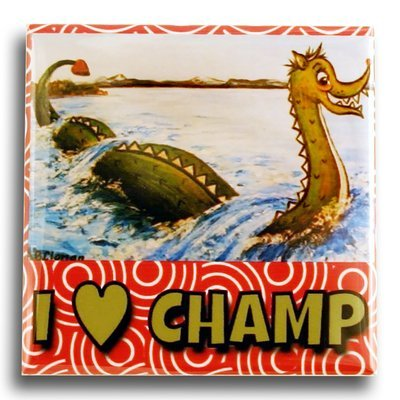 "Clonan Champ – I Heart Champ 2"" Square Magnet"