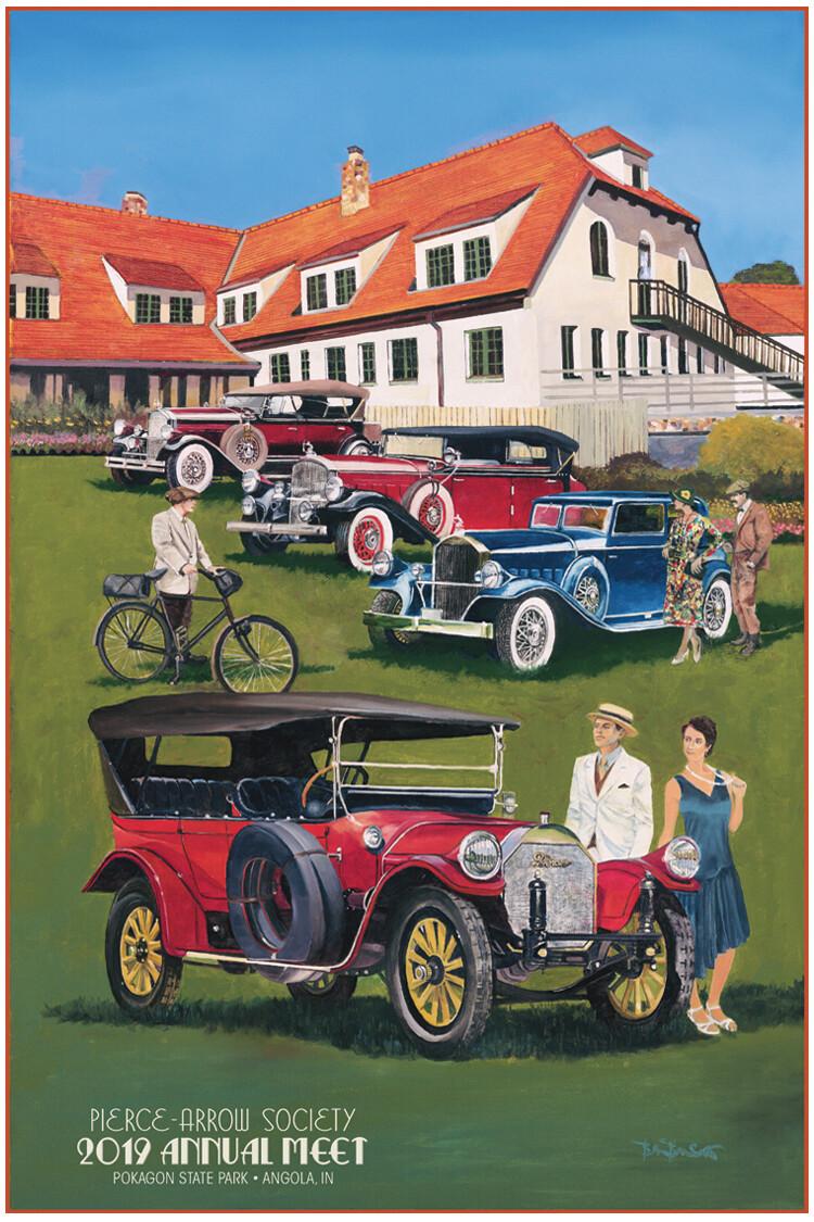 2019 Pierce-Arrow Society Annual Meet Poster - Historic Potawatomi Inn