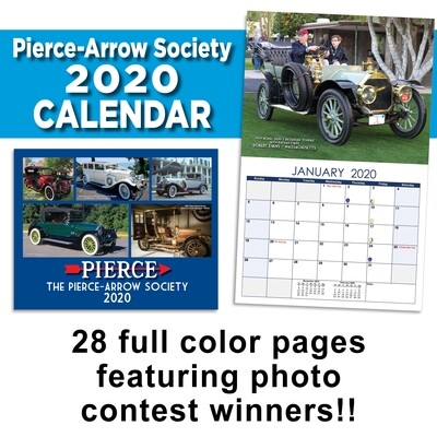 2020 Pierce-Arrow Wall Calendar