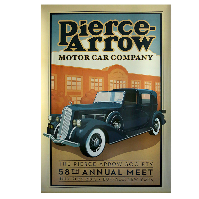 2015 Pierce-Arrow Society Annual Meet Poster - Buffalo, NY