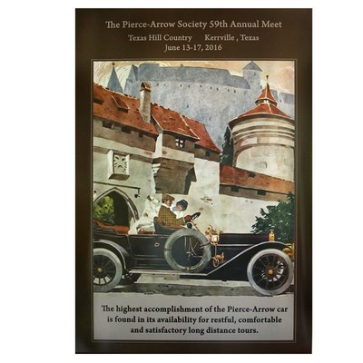 2016 Pierce-Arrow Society Annual Meet Poster - Kerrville, TX