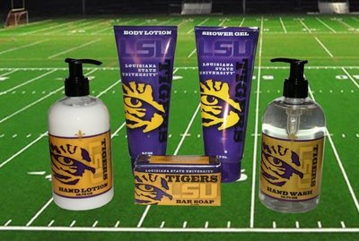 LSU Bath & Shower Gift Set