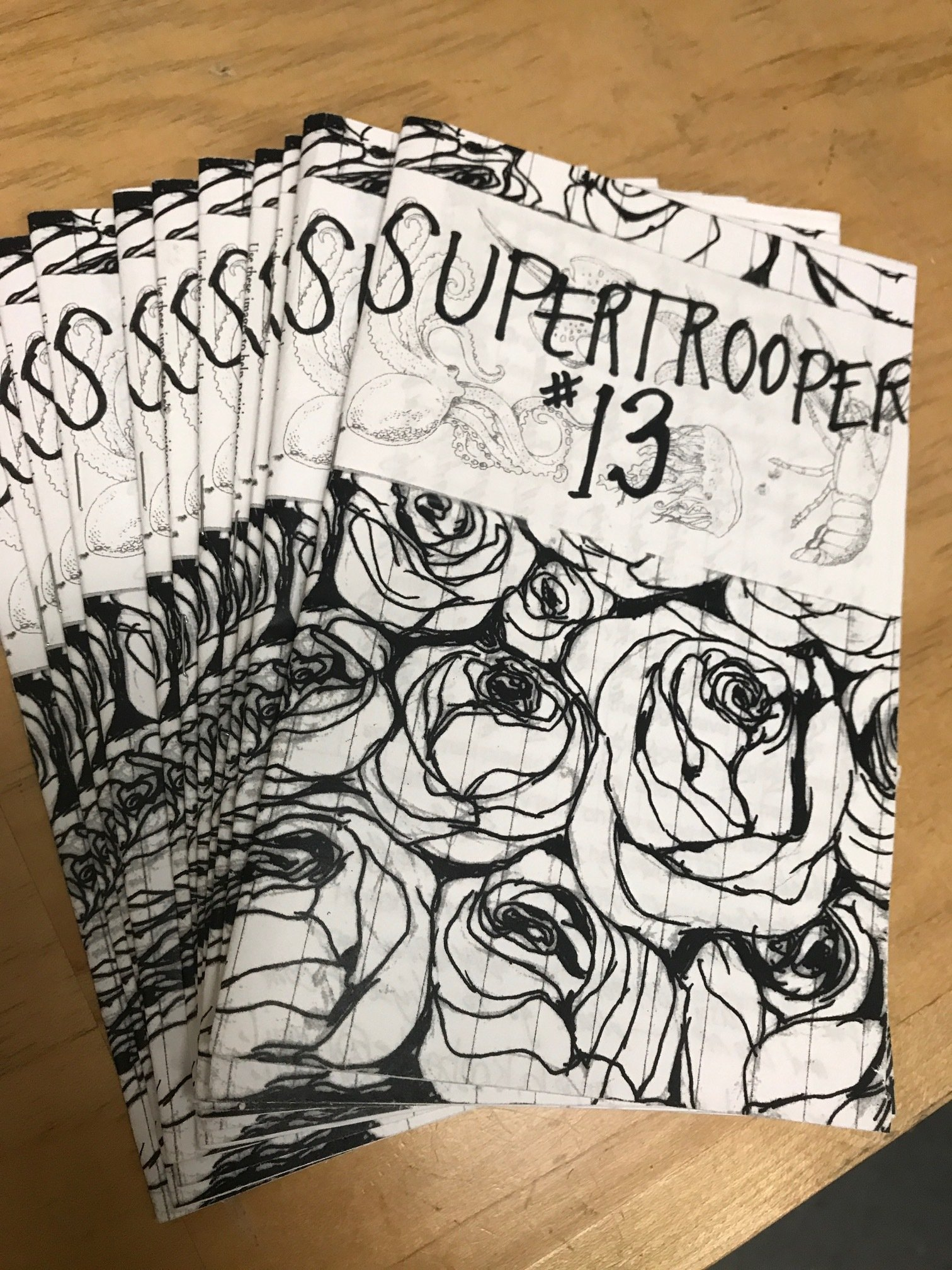 """SUPERTROOPER""  #13 Zine  By Angela  Roberts PA012"