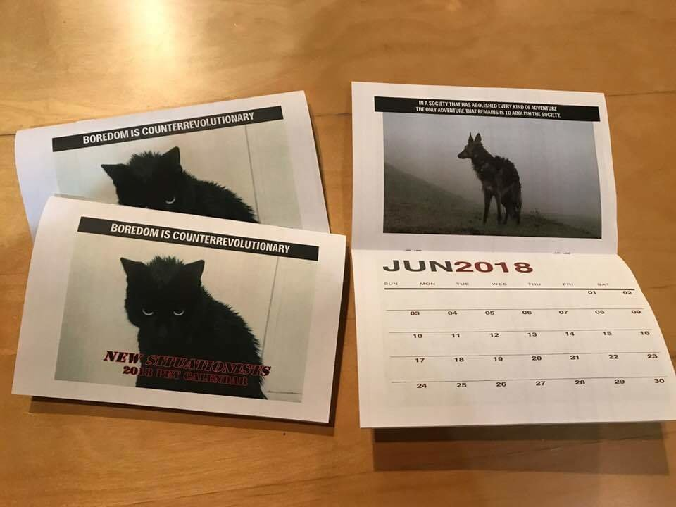 The  New  Situationists  2018  Pet Calendar PA0000