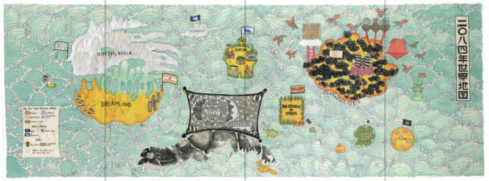 Michelle Kuen Suet Fung, 2084 Imaginary Map print