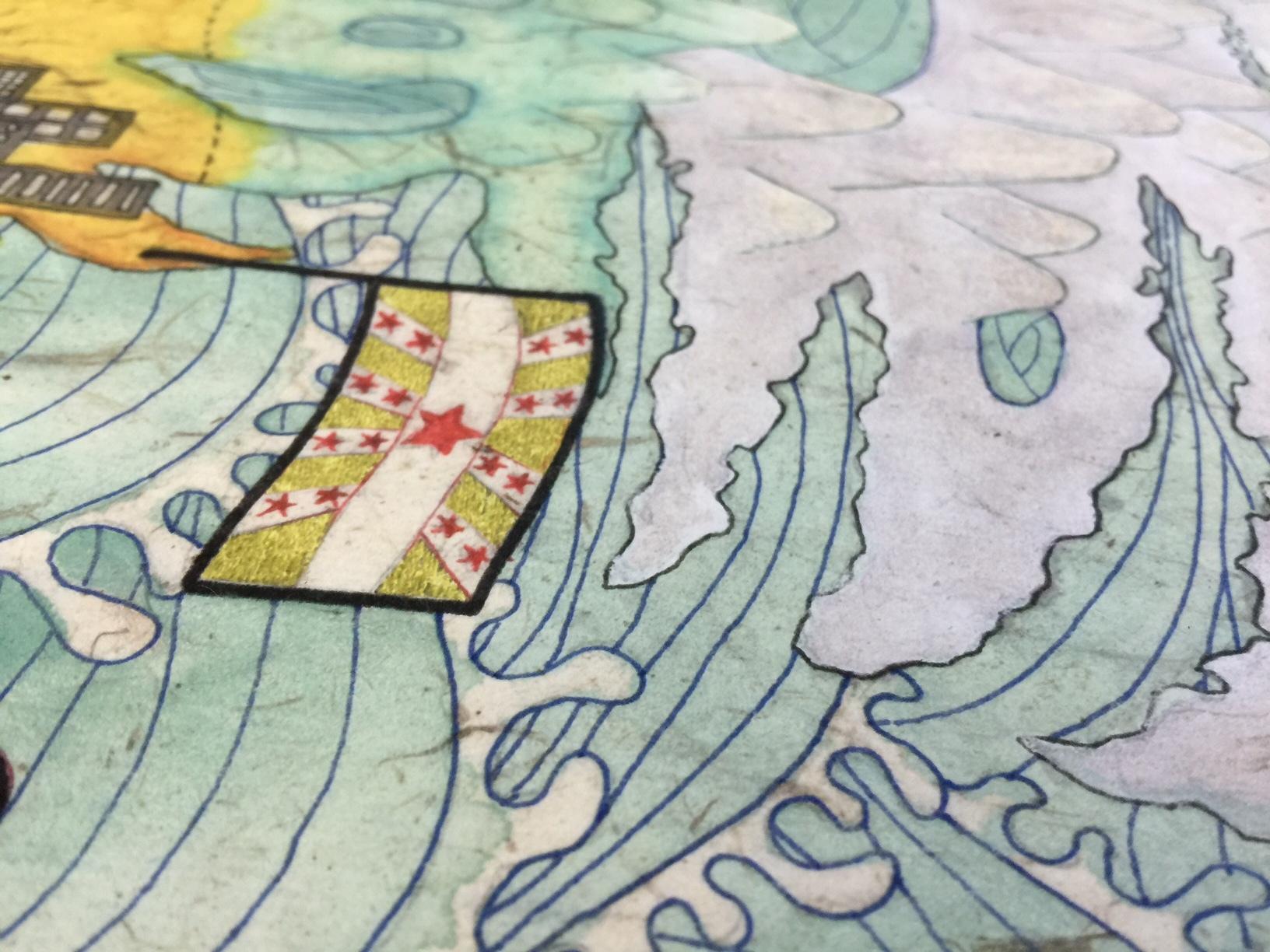 Michelle Kuen Suet Fung, 2084 Imaginary Map print
