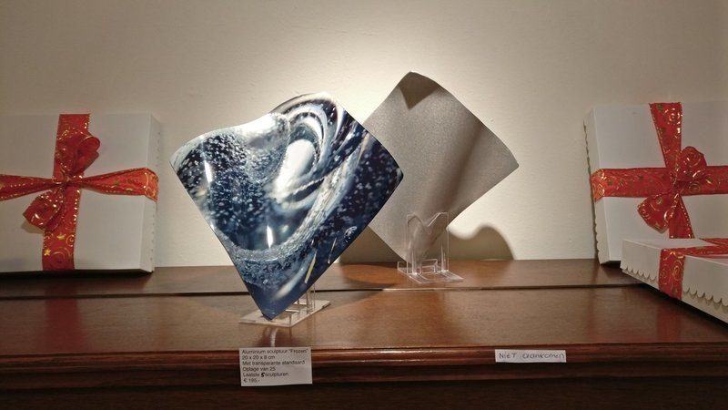 'Frozen', Sculpture in aluminum