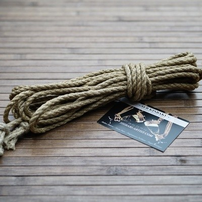 CORDE SHIBARI CHANVRE 7mm X 8M.