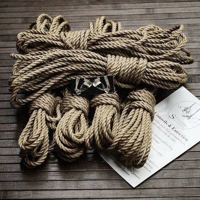 LOT 6 CORDES SHIBARI 6mm x 8M.