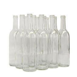 750ml Clear Champagne bottles 12/cs